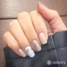 Latte & Party dress TruShine Gel mixed with Gatsby wrap.. All by Jamberry! Get this look at my site! https://kiwijamz.jamberry.com #Jamberry #Manicure #NailArt #Prettynails #kiwijamz