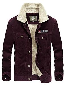 e11d1efe0c Editor choice Yeokou Men s Vintage Slim Sherpa Lined Shearling Corduroy  Trucker Jacket. Explore our Men