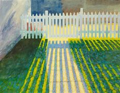 Back Fence by David Rickert   oil painting   Ugallery Online Art Gallery