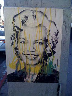 Mr Brainwash has been busy pasting melrose & la brea, LA in Warhol-inspired Marilyns & the odd Salvador Dali…