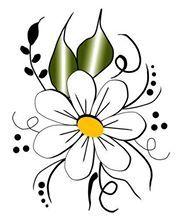 Diy Wall Painting, Fabric Painting, Doodle Drawings, Easy Drawings, Windows Color, Rock Flowers, Watercolor Bookmarks, Art N Craft, Beach Wall Art