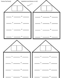 Here's a large size fact family form for practicing basic facts ...