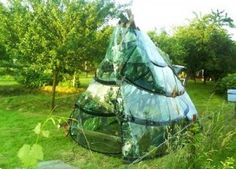 Greenhouse made from recycled car windshields