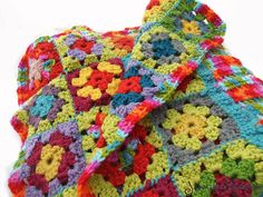 My Granny Square Crochet Throw