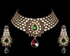 Indian Jewellery and Clothing: Beautiful Kundan bridal jewellery from Gehna Jewellers..