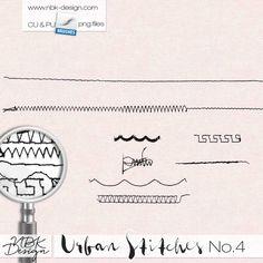 Urban Stitches No4 {CU   PU   S4H} :: COMMERCIAL USE :: Memory Scraps