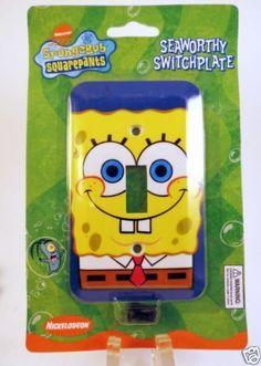 Spongebob-Squarepants-Light-Switch-Plate-Cover-Room-Decor-Seaworthy-Kids-Boys