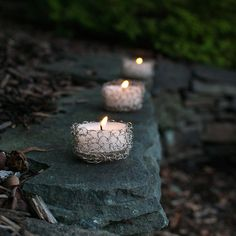 Wire Crochet Tealight Holder | AllFreeCrochet.com