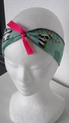 eeaf1396a388 bandeau headband serre-tête extensible  en jersey  imprimé  pandas  créateur