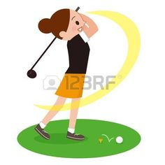 Woman to play the Golf Golf Clip Art, Play Golf, Vector Art, Minnie Mouse, Disney Characters, Fictional Characters, Sport, Woman, Illustration