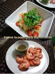 タイ料理  ソムタム・海老とシーフードディップ