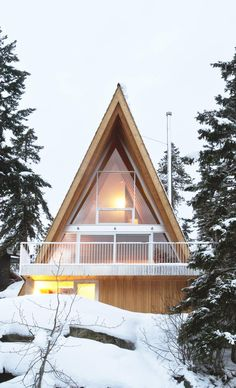 An A-Frame Cabin for a Snowboarding Family in Whistler