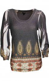 Super cute womens sweater! DB Sport Clothing Classy Round Neck 3/4 Sleeve Top