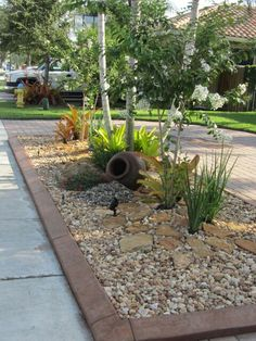 front triangle bed...turn it into a rock garden