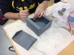 Heather H - Ceramics 1 - beautifully built box with a lid. Nice work Heather