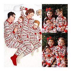 f43788db3c Christmas Family Women Baby Kid Deer Sleepwear Nightwear Pajamas Set Pyjamas  Fei in Clothing