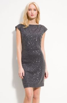 Kenneth Cole New York Sequin Jersey Dress (Petite) | Nordstrom - StyleSays