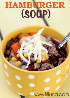 Hamburger Soup. Easy