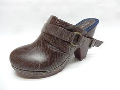 Rampage Womens NUCKLE 1 Brown distressed finish clogs mules shoes 10 NEW  #Rampage #Clogs #casual