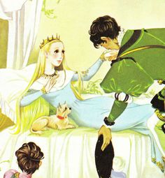 Sleeping Beauty - Vintage Illustration Storybook Print - Deans A Book of Fairy Tales - Paper Ephemera