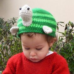 OMG!!! This is WAAAAY too cute to not crochet one!!! - turtle hat