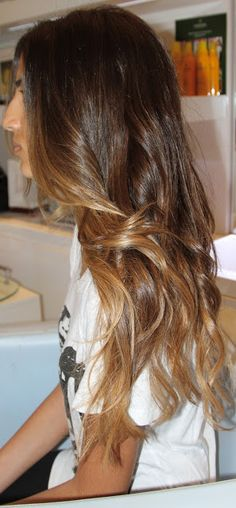 dark ombre with caramel tips This is how I just got my hair done