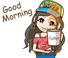 Love Cartoon Couple, Cute Cartoon Pictures, Cute Cartoon Drawings, Cute Cartoon Girl, Cartoon Jokes, Good Morning Smiley, Good Morning Girls, Cute Good Morning Quotes, Morning Cartoon