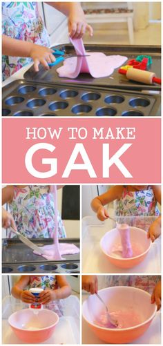 Such an easy, fun play recipe: How to make Gak.