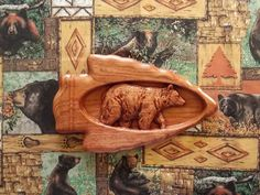 This rustic grizzly bear wood carving wall hanging makes a great addition to your wall bear decor. It's an unique cabin, lodge or cottage decorating piece, as well as an ideal gift for that upcoming wedding, 5th wood anniversary, birthday, housewarming party or special occasion.