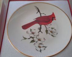 NORTH AMERICAN CARDINAL Songbird Collectors Plate With Original Box Artist Don Eckelberry National Wildlife