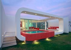 That's one cool hot tub.