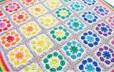 Magic Rainbow Crochet Baby Blanket