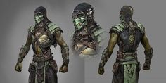 (Exclusive 'Mortal Kombat X' Concept Art by Justin Murray | Concept Art World) I like this because it shows two positions of the character and a close up of his upper chest and head.