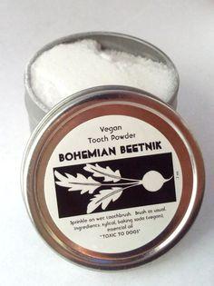 VEGAN Tooth Powder Teeth Cleanser All Natural by BohemianBeetnik, $6.99