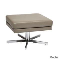Yield Chrome Base Faux Leather Ottoman - Overstock™ Shopping - Great Deals on Office Star Products Ottomans