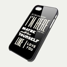 One Direction Quote  TM00- iPhone 5 Case - iPhone 4 / 4S Case. $14.99, via Etsy.