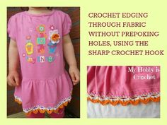 Crochet edging through fabric- a free pattern, a review and a giveaway