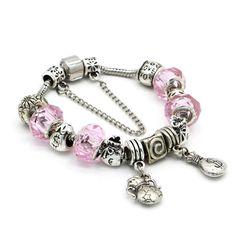 Pandora Style Charm Bracelet With Money Beads