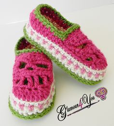 Glamour Skull Slipper Shoes - Baby & Kid Sizes crochet pattern Giveaway! - Glamour4You
