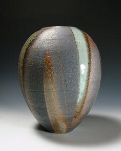 Haiyu-sai Ash Glazed  Tsubo Jar