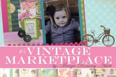 Fun Vintage Marketplace scrapbooking line. Go buy it!!