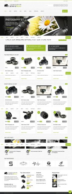 Buy Camy - WordPress Shop by gljivec on ThemeForest. Camy camera shop is a responsive e-commerce Wordpress Theme that utilises the powerful WooCommerce plugin to create a. Wordpress Shop, Wordpress Theme, Camera Shop, Web Layout, Web Design Inspiration, Page Design, Ecommerce, Typography, Graphic Design