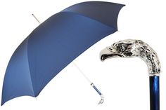 478 6768-2 W18PB - Blue Umbrella, Silver Eagle Handle