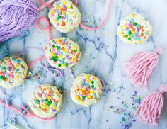 Confetti Cookies - soft and chewy and loaded with sprinkles! This recipe is easy to follow and best of all, delicious!