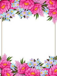 ✼ ✻ ✺ ✹ ✸ ✷ ₪ ❃ ❂ ❁ ❀ Boarder Designs, Page Borders Design, Flower Boarders, Flower Frame, Poster Background Design, Frame Background, Flower Backgrounds, Wallpaper Backgrounds, Wedding Invitation Background