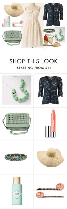 """""""Early summer stroll"""" by vesna ❤ liked on Polyvore featuring FOSSIL, Anthropologie, People Tree, Kate Spade, Clinique, 1928, American Apparel, Benefit and The Barrette Lady"""