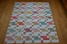 Two things happened yesterday....I finished my Cherry Fizz quilt top and we had our first snow of the season, termination dust.   La...