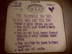 let go of measuring your self-worth by the # on the scale... it's freeing beyond belief.