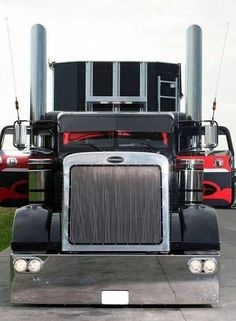 Tricked Out Big Rigs | AFTER: Check| AFTER: Check out the custom paint job and the shiny stacks. Description from pinterest.com. I searched for this on bing.com/images