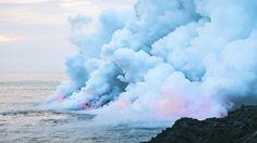 Pastel volcano smoke Art Print by Andrew Marcu | Society6